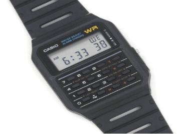 Casio Men's Silver-Tone Databank Digital Watches for Men