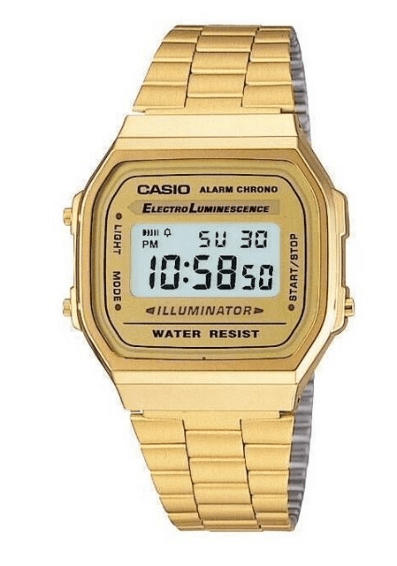 """Casio A168WG-9 """"Classic"""" in Gold Digital Watches for Women"""