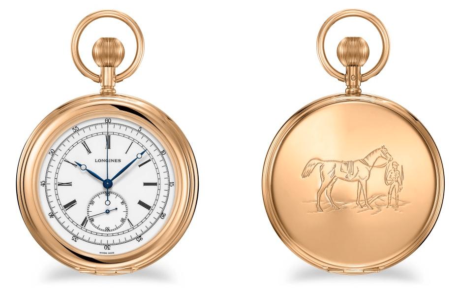 Longines Equestrian 18K Gold Pocket Watch