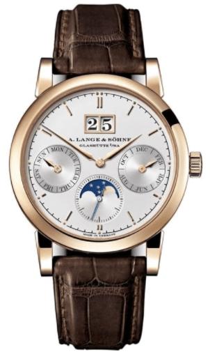 A. Lange & Söhne Saxonia Annual Calendar 18ct Rose & White Gold Watch