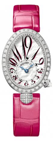 Breguet Reine De Naples Mini 18ct White Gold Automatic Diamond Bezel