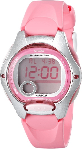 CASIO Sports Watch – Black & Pink for Girl
