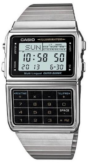 Casio - Men's Silver Tone 25 Calculator Watch