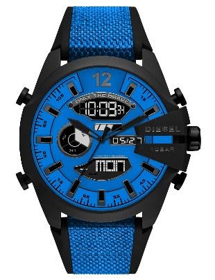 Diesel DZ4550 Mega Chief Ana-Digi Blue