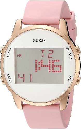 Guess Stainless Steel Silicone Digital Watches for Girl