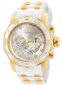 Invicta Men's Pro Diver Scuba 48 mm White Gold Watch