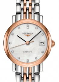 Longines Elegant Steel and Rose Gold PVD Bracelet Watch