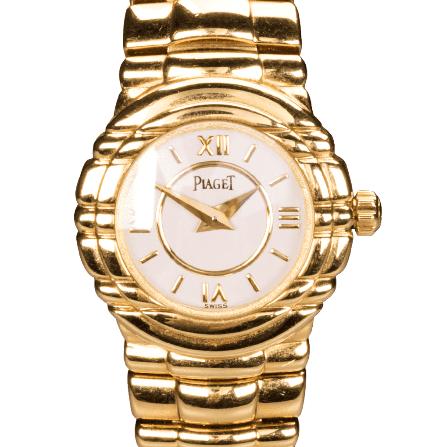 Piaget Tanagra 25 mm 18ct Yellow White Gold Watches Ladies Bracelet