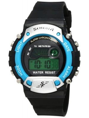 Sonata Digital Grey Dial Men's Watch -NM7982PP04