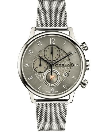 TESLAR Re-Balance T-1 Chronograph Mesh Strap Watch