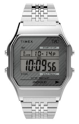 Timex T80 Digital Silver SS