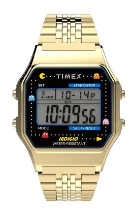 Timex T80 x PAC-MAN Digital Gold SS
