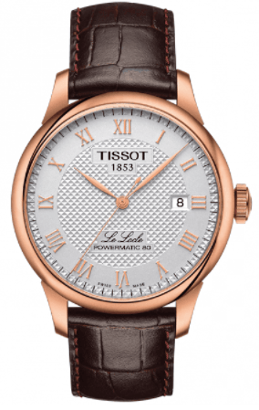 Tissot Watches Le Locle Automatic Rose White Gold Watches Silver Dial Strap
