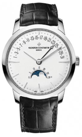 Vacheron Constantin Patrimony Moonphase / Retrograde Date 18k White Gold Watch