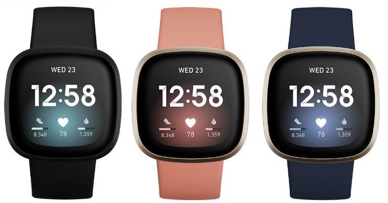Fitbit Versa 3 Women's Waterproof Watches